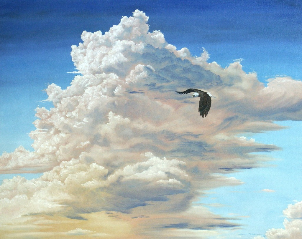 Love, like the eagle, mounts up, chases the storm, and rides the wind.