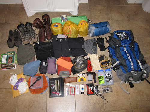 all the good hiking gear I packed...meh...or SHOULD have...